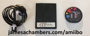 The N2 Elite or Amiiqo with the USB reader/writer module