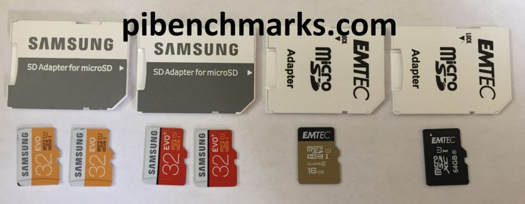 The front of the MicroSD cards