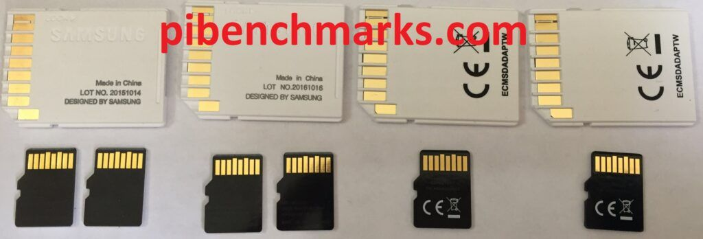 The back of the MicroSD cards