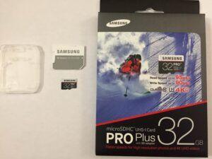 Samsung Pro Plus unboxed