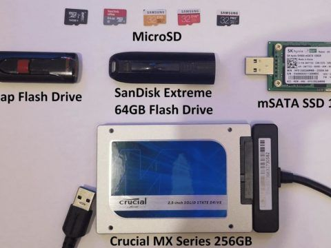 The contenders for the RPI storage benchmarks