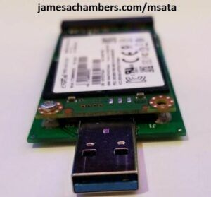 Turn Old mSATA SSDs To Fast USB Flash Drives