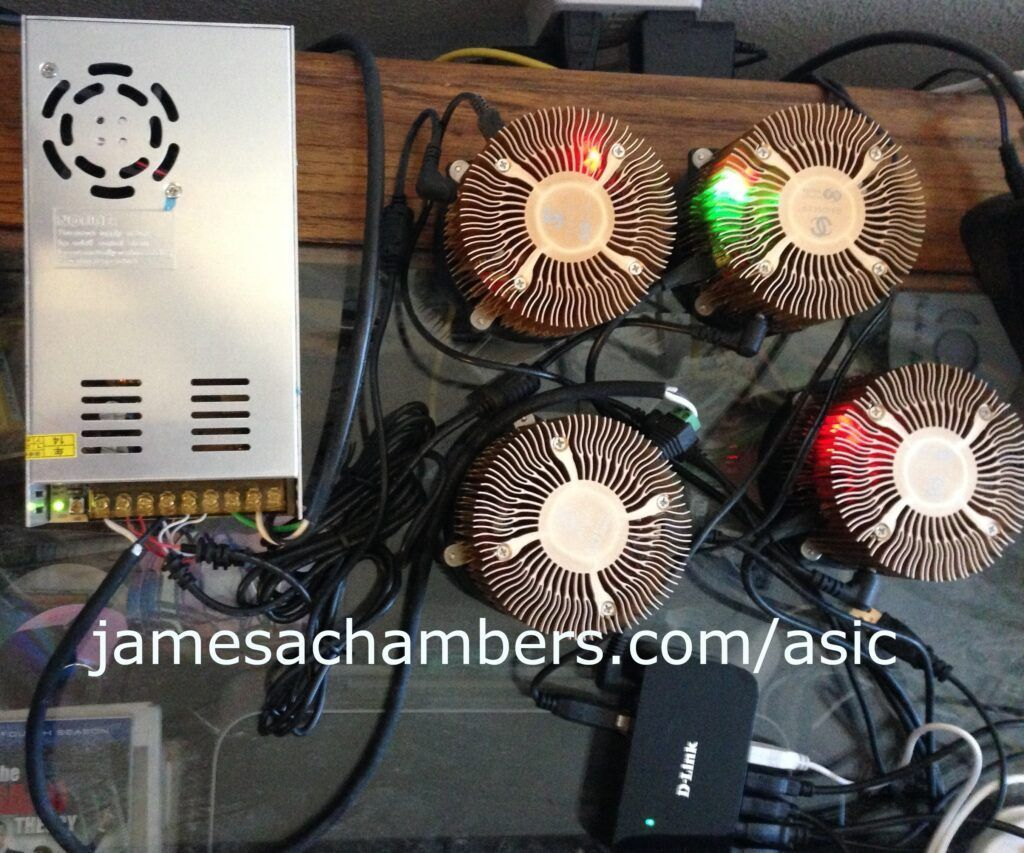Gridseed 5 chip SHA256 / Scrypt Dual ASIC Miner w/ Power Supply