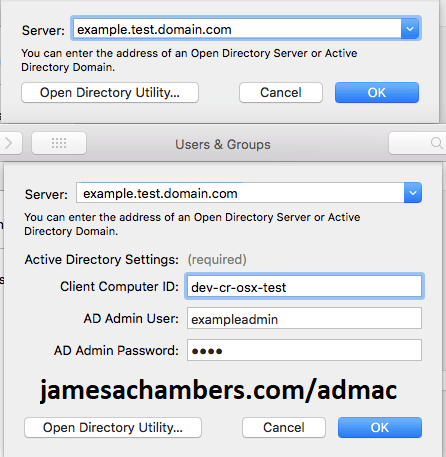 Mac Active Directory Enrollment