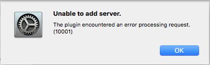 Mac AD Plugin Error 10001