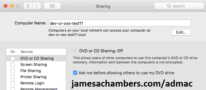 Mac Sharing Computer Name