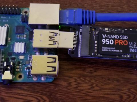 Raspberry Pi 4 with Samsung 950 Pro NVME SSD