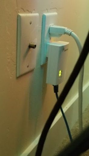 Ethernet over Power Wall Adapter