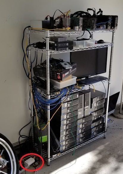 Ethernet Over Power Wall Rack