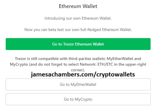 Trezor Beta Wallet Ethereum Selection