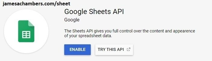Google Sheets Enable Button