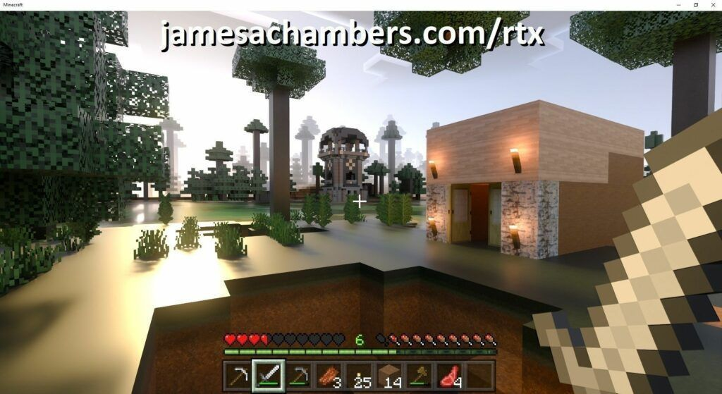Minecraft Bedrock with Resource Pack / RTX