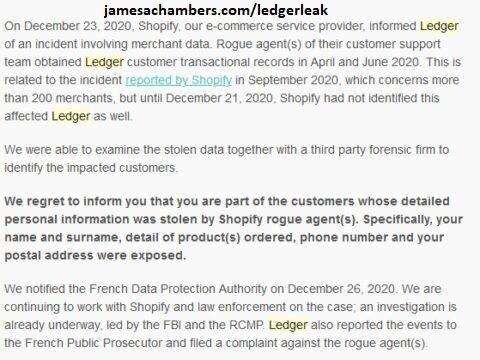 Ledger Security Notice #3 - December 23rd 2020