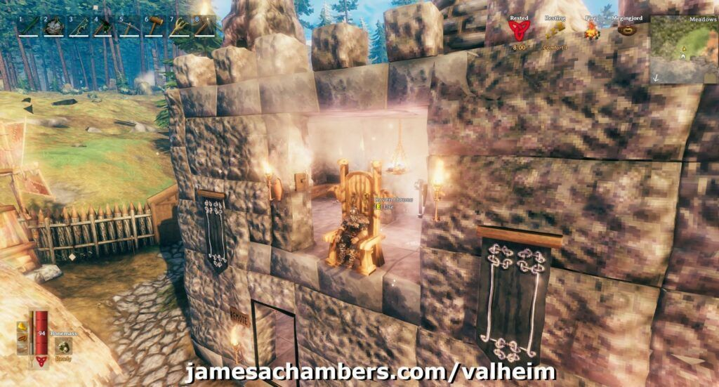 My Valheim Dedicated Server Castle